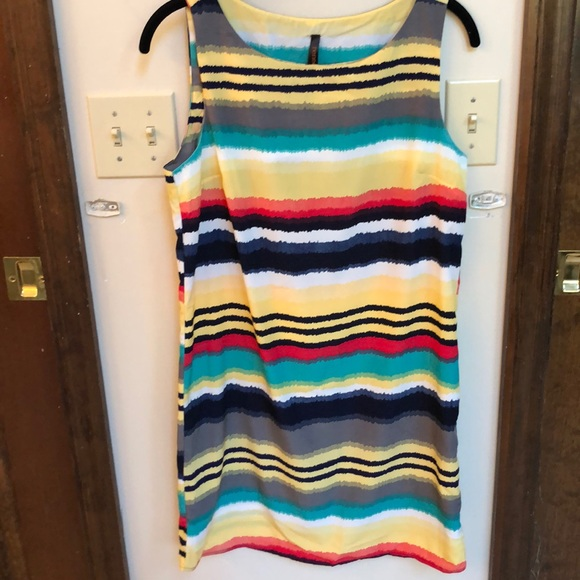 Multi color pull on dress worn once